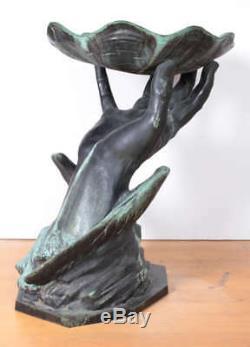 P. Bryant Baker Bronze Birdbath