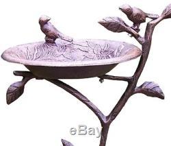 Pedestal Bird Bath for Outdoor Garden Ornament Antique Birdbath Art Deco Green
