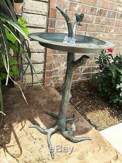 Pedestal Birdbath Sun Dial Garden Sundial Statue Garden Clock Bird Bath Luxury