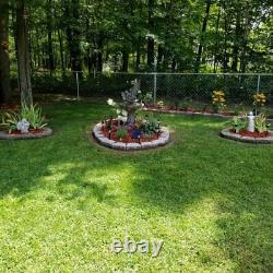 Polyresin Solar Fairy Water Fountain Large Outdoor Patio Garden Decor Bird Bath