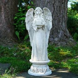 Praying Angel Outdoor Statue Garden Bird Bath Resin Pedestal Figure Yard 23 NEW