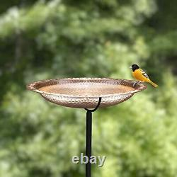 Pure Copper 18 Bird Bath on Garden Pole by Good Directions