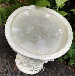 Putti Angel Bird Bath Italian Art Pottery Winged Cherub Garden Statue Ceramic