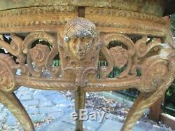RARE ESTATE Yard Art ANTIQUE VICTORIAN Cast Iron Claw Foot Planter or Bird Bath