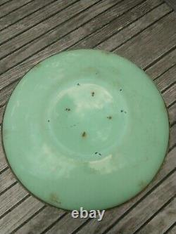 Rare Vintage MCM Large Round Metal Disc Birdbath Decorative Patio Garden Decor