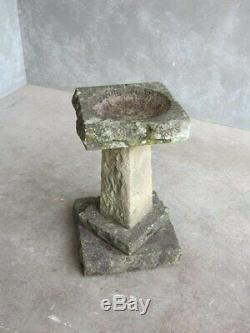 Reclaimed Reconstituted Stone Garden Bird Bath Reclaimed Stone Garden Ornament