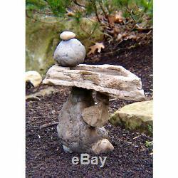 Rock Bird Bath Stones Desert Outdoor Natural Birdbath Deluxe Garden Decoration
