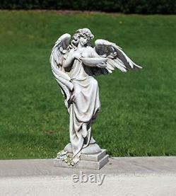 Roman Joseph's Studio Angel with Bird Bath Statue 20H Garden Collection Resin