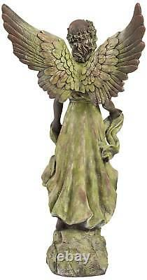 Rustic Outdoor Statue Bird Bath 31 Angel for Yard Garden Patio Deck Home