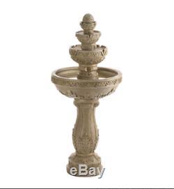 Shabby Victorian english garden Statue bird bath Outdoor patio pedestal Fountain