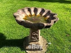 Shell Bird Bath Stone Birdbath Garden Birdbath