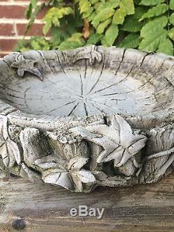 Small Ivy Bird Bath/Feeder Garden Ornament LATEX ONLY Mould/Mold (BB4)