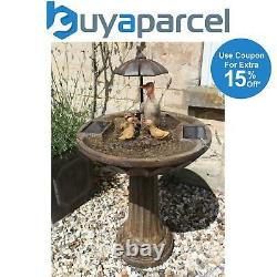 Smart Garden Solar Duck Family Umbrella Garden Water Feature Fountain Bird Bath