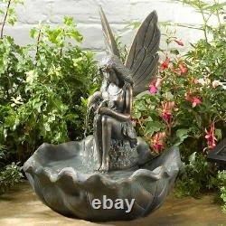 Smart Garden Solar Fairy Leaf Garden Water Feature Fountain Bird Bath Brand New