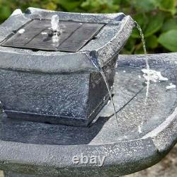 Smart Garden Solar Pagoda Oriental Garden Water Feature Fountain Bird Bath