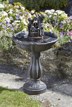 Smart Garden Solar Tipping Pail Garden Water Feature Fountain Bird Bath 1150110