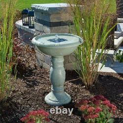 Smart Solar 20622R01 Country Gardens Solar Powered Concrete Bird Bath Fountain