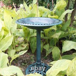 Solar Bird Bath Outdoor Garden Decor Sculpture Bird Feeder Pond Fountain Patio