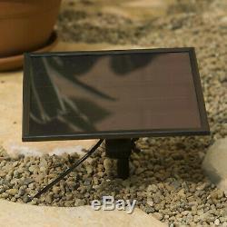 Solar Ceramic Cascade Outdoor Garden Fountain Bowl Pots Tiered Bird Bath Decor