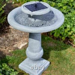 Solar Powered Chatsworth Fountain Outdoor Garden Water Feature No Mains