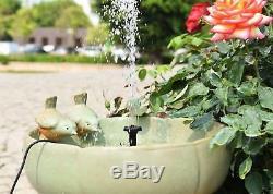 Solar Powered Water Pump Garden Yard Fountain Waterfall Pond Bird Bath Outdoor