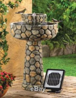 Solar Water Fountain Garden Patio Decor Birdbath Waterfall Landscape Ornament