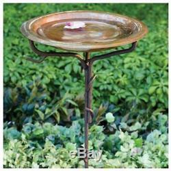 Solid Copper Birdbaths Birdbath With Iron Twig Stake Garden Outdoor