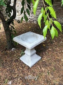 Square shaped bird bath stone garden ornament simple design stunning (INTER)