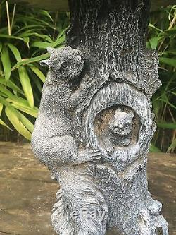 Squirrel Decorated Bird Bath Garden Ornament Latex & Fibreglass Mould/Mold (BB1)