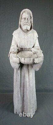 St. Francis of Assisi Birdfeeder Bird Bath Garden Statue 31.5 Indoor Outdoor