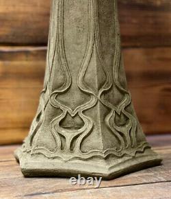 Stone Garden Large Art Deco Style Leaf Vine Detailed Bird Bath Statue Ornament