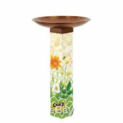 Studio M Daisy Garden Bird Bath Art Pole with Topper