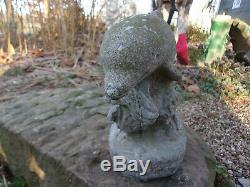Stunning Old Dolphin Vintage Cement/concrete Garden Statue Birdbath Ornament