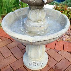 Sunnydaze Birds' Delight Outdoor Garden Water Fountain Bird Bath 35-Inch