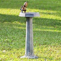 THIRSTY SQUIRREL FOUNTAIN 36 inch High Birdbath Patio Verdi Yard GARDEN DECOR
