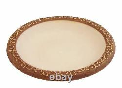 Tierra Garden 4-1763T Semi-Gloss Bird Bath Bowl with Brown Matte Rim Ivory