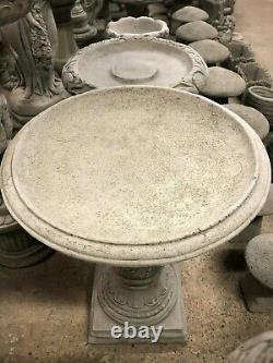 Traditional bird bath beautiful pattern large round top bath, garden concrete BB