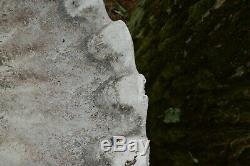VINTAGE FULL SIZED 32.5 x 26.5 Concrete Triple Seahorse Birdbath Yard Garden