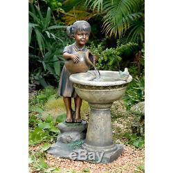 Versando Bird Bath Outdoor Water Fountain Patio Outdoor Garden Decor New