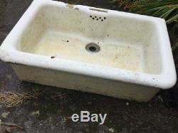 Very Large Vintage Belfast / Butler Sink bird/duck bath, planter, herb garden