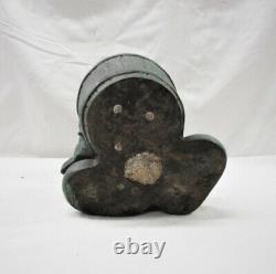 Vintage Disney Mickey Mouse Bird Bath Garden Figurine Polyresin 11.5 Signed