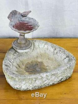 Vintage French birdbath and feeder