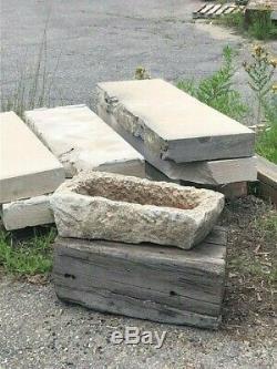 Vintage Stone farm Trough, Antique Garden Planter, Bird Bath, Garden Decor