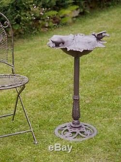Vogeltränke Vogelbad Vogel Eisen Bad Landhausstil Gartendeko antik Stil garden