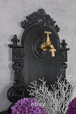 Wall Fountain Aluminium Garden Antique Ornamental Retro Water