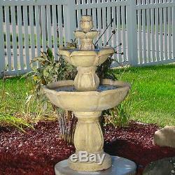 Water Fountain Birdbath 3 Level Outdoor Patio, Backyard, Garden