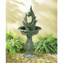 Water Sculpture Fountain Modern Abstract Garden Art Bird Bath