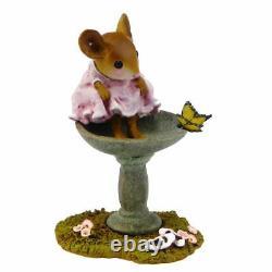 Wee Forest Folk GARDEN SPA, WFF# M-394, Mouse in Bird Bath