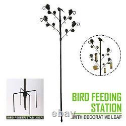 Wild Bird Bird Feeding Station with Leaves in Brown Hammertone Garden Water Bath