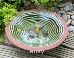 Wildlife World Ceramic Echo Bird Bath With 3 Standing Feet, Ideal Garden Feature